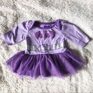 Purple bat girl tutu dress